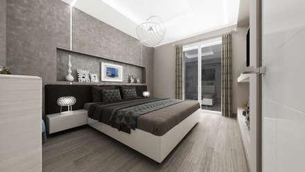 Casa SA: Camera da letto in stile in stile Eclettico di De Vivo Home Design
