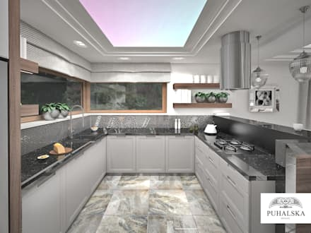 Kuchnia w stylu Modern Classic: styl , w kategorii Kuchnia zaprojektowany przez PUHALSKADESIGN