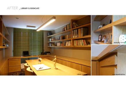 Oficinas de estilo minimalista por 스튜디오메조 건축사사무소