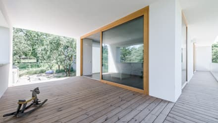 The Black & White House:  Terrace by Földes Architects