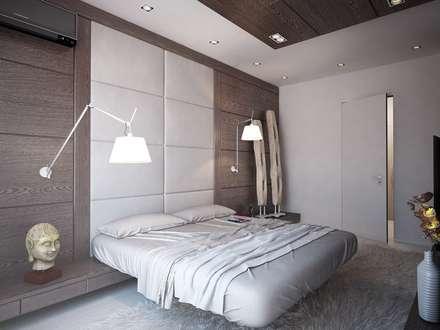 """Апартаменты """"Умный дом"""": Спальни в . Автор – Grafit Architects"""