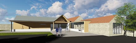 Community Centre - 3d model:  Commercial Spaces by O2i Design Consultants