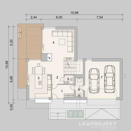 Dieses Haus mit 149 m2 macht einfach richtig gute Laune!!  Unser Entwurf LK&935: moderne Garage & Schuppen von LK&Projekt GmbH