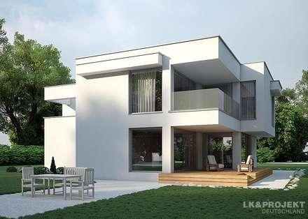Dieses Haus mit 149 m2 macht einfach richtig gute Laune!!  Unser Entwurf LK&935: moderne Häuser von LK&Projekt GmbH