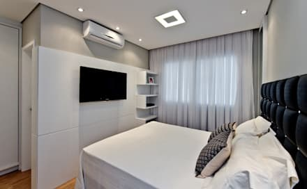 Apartamento J&R: Quartos  por Mendonça Pinheiro Interiores