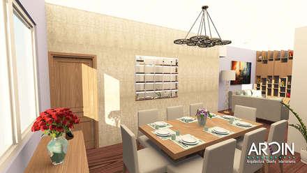 COMEDOR : Comedores de estilo industrial por ARDIN INTERIORISMO