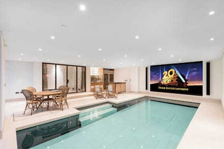 From Pool to Private Cinema in Minutes: modern Pool by London Swimming Pool Company