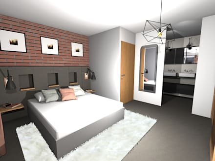 Chambre industrielle id es inspiration homify - Chambre style industrielle ...