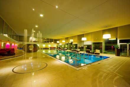 Hotel Christiania, Switzerland, Zermatt: modern Pool by London Swimming Pool Company