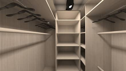 minimalistic Dressing room by DEMARKA