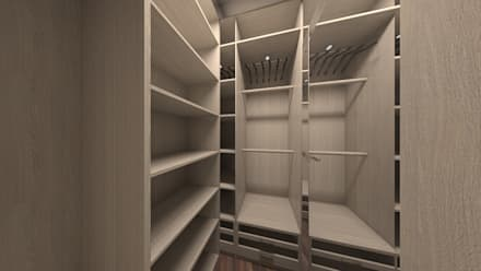 minimalistic Dressing room by DEMARKA