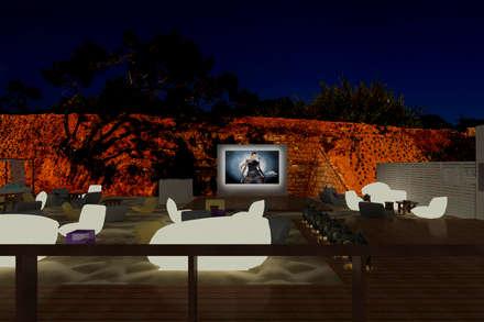 Sun SET -lounge Praia do Evaristo: Bares e clubes  por Atelier  Ana Leonor Rocha