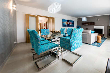 Moradia 20 Algarve: Salas de jantar modernas por Atelier  Ana Leonor Rocha