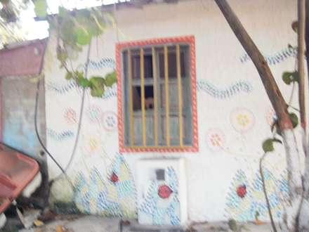 FACHADA POSTERIOR MACABI: Casas de estilo mediterraneo por DIBUPROY