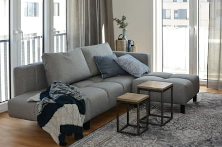 Wohnzimmer : industriale Wohnzimmer von Luna Homestaging