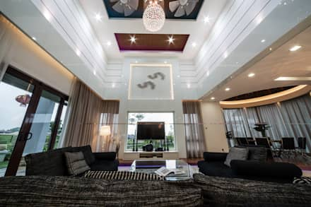 Majestic Contemporary | BUNGALOW : minimalistic Living room by Design Spirits