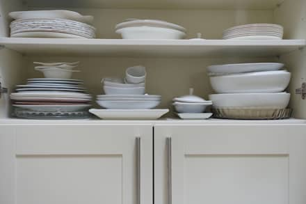 Storage-space-in-fitted-kitchen:  Commercial Spaces by Premier Kitchens & Bedrooms