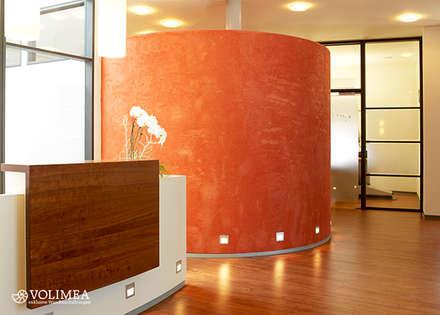 Empfang mit exklusiver Wandgestaltung in volimea:  Flur & Diele von Volimea GmbH & Cie KG