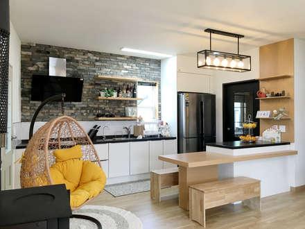 전주 만성동 안을채 주택 - 5-star(목조건축품질인증) 인증 : 꿈꾸는목수의  주방