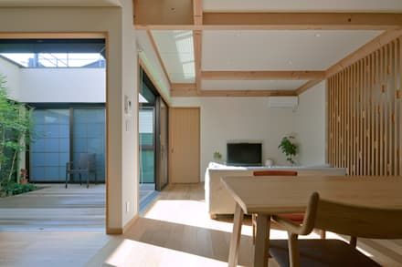 今宿の家1: 株式会社 SYN空間計画 一級建築事務所が手掛けたリビングです。