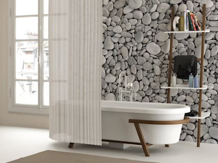 Pebbles: Modern Bathroom By Pixers