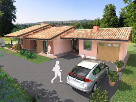 Villa in prefabbricato ligneo: Case in stile in stile Classico di DBIOSTUDIO