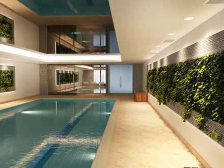 Dom Konstancin: styl , w kategorii Basen zaprojektowany przez AFD Interiors