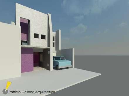 En su etapa proyectual : Volumetria  II: Oficinas y Tiendas de estilo  por Patricio Galland Arquitectura