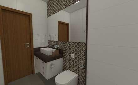 Projeto JR: Banheiros modernos por Luana Alvarenga - Arquitetura e Interiores