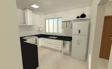 Projeto JR: Cozinhas modernas por Luana Alvarenga - Arquitetura e Interiores