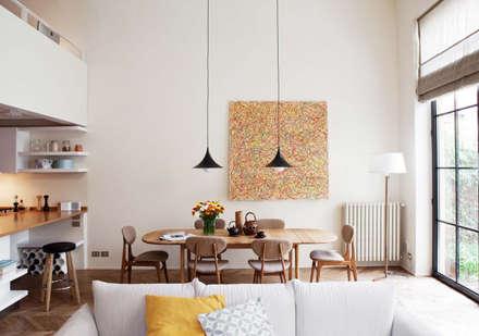 Loft - piazza Emilia - Milan: Sala da pranzo in stile in stile Moderno di Fabio Azzolina Architetto