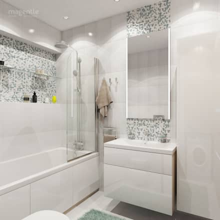 Заречная: Ванные комнаты в . Автор – MAGENTLE