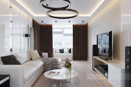 Дизайн-проект четырехкомнатной квартиры в современном стиле: Гардеробные в . Автор – Студия дизайна интерьера «Чердак»