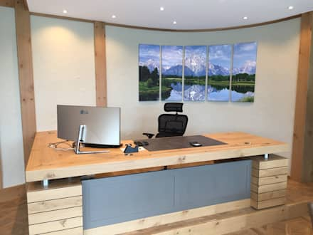 Alpenflair: Rustikale Arbeitszimmer Von Design Manufaktur GmbH