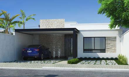 Fachada: Casas modernas por Mariana Domingues Arquitetura e Interiores