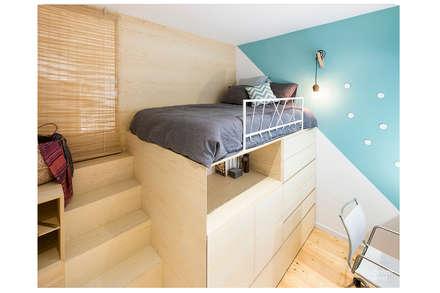 Dormitorios Juveniles : Dormitorios de estilo escandinavo de Dröm Living