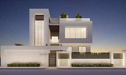 Elegant Modern Exterior Design Ideas : minimalistic Houses by IONS DESIGN
