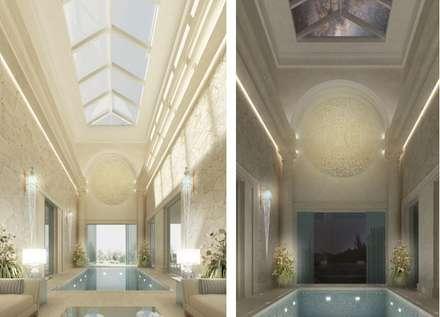 Exquisite Indoor Pool Design Ideas: mediterranean Pool by IONS DESIGN