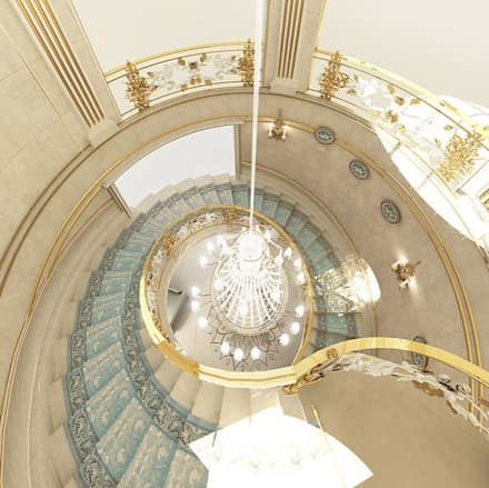 Curved Staircase Design Ideas:  Corridor & hallway by IONS DESIGN