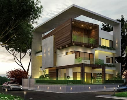 residential project modern houses by agnihotri associates - Modern Houses Ideas