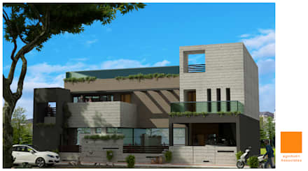 Residence at Tikamgarh : modern Houses by agnihotri associates