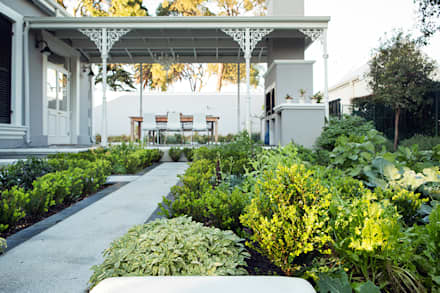Outdoor Seating Area alongside Kitchen Garden: classic Garden by Red Daffodil