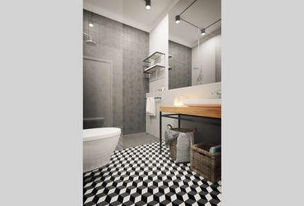 Apartamento Antas, Porto: Casas de banho modernas por ASVS Arquitectos Associados