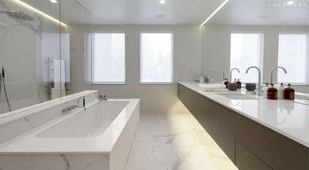 MASTER BATHROOM: modern Bathroom by Landmass London