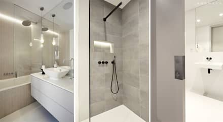 EN - SUITE DETAILS: modern Bathroom by Landmass London