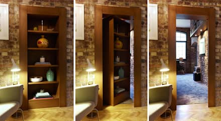 SECRET DOOR:  Corridor & hallway by Landmass London