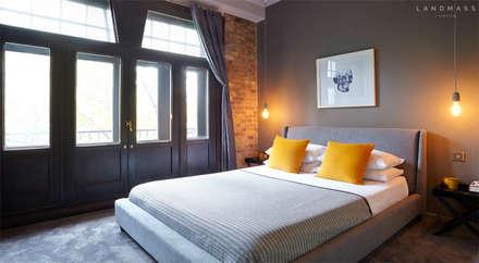 BEDROOM: industrial Bedroom by Landmass London
