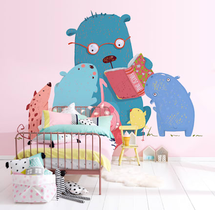 Read me Stories: minimalistic Nursery/kid's room by Pixers