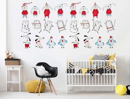 Little Friends: minimalistic Nursery/kid's room by Pixers