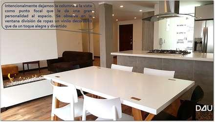 Vista Comedor / Sala: Comedores de estilo escandinavo por Design For You SAS